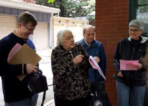 Tour guides Johns Hopkins & Doris Sharkey