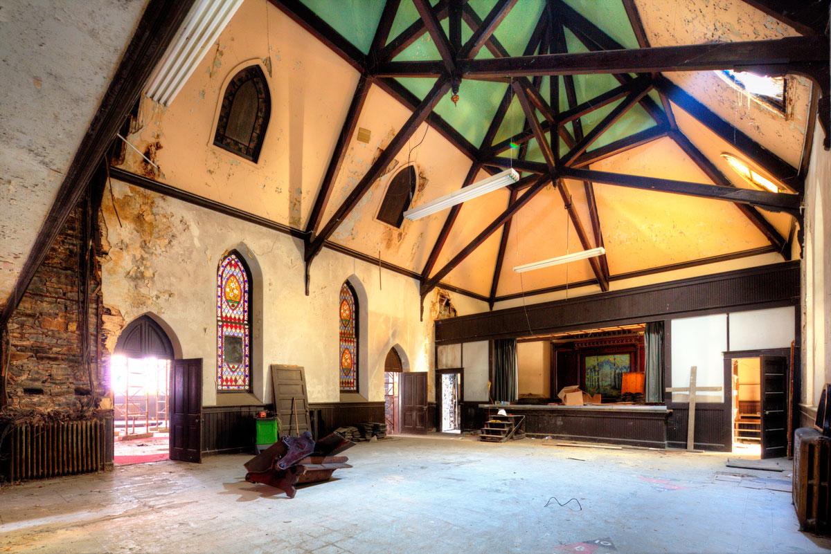 Belfry Theater in Strawbridge Methodist Church