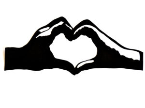 Heart hand symbol