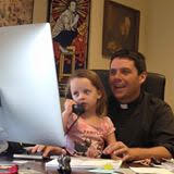 Rector Maggiano with daughter