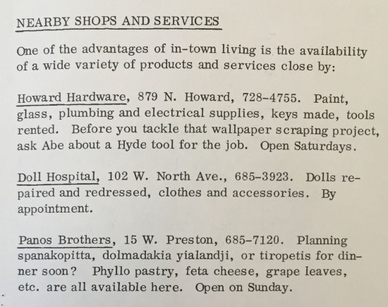 Shops advertised in the Bulletin, 1973.