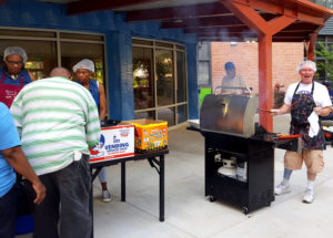 July Cookout with neighbors & residents at Linden Park