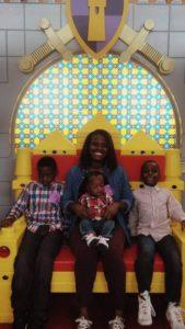 Erika and her children