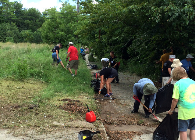 SATF cleanup of vacant lot last summer